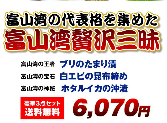 富山湾贅沢三昧豪華3点セット送料無料4,800円